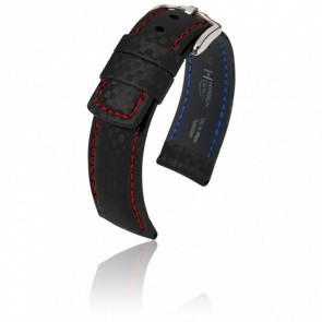 Bracelet Carbon Noir / Red  - Entrecorne 22 mm