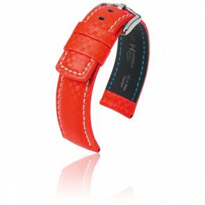 Bracelet Carbon Rouge - Entrecorne 22 mm
