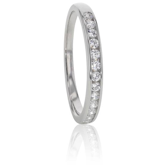 Alliance Anténor, Diamants 0,20 ct & Platine
