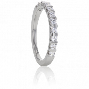 Alliance Ariel Or Blanc et Diamants G/VS 0,50ct