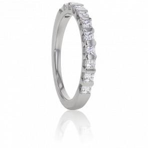 Alliance Ariel Or Blanc et Diamants G/VS 1ct