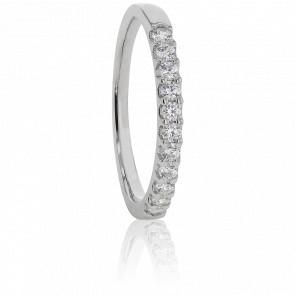 Alliance Audley Or Blanc et Diamants G/SI2 0,30ct