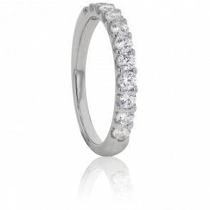 Alliance Audley Or Blanc et Diamants G/SI2 0,40ct
