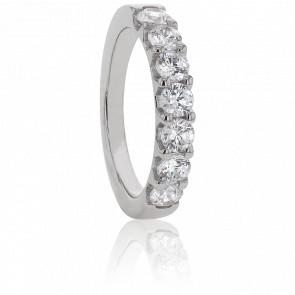 Alliance Audley Or Blanc et Diamants G/SI2 1ct