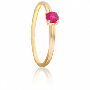 Bague Galium Rubis & Or Jaune 18K