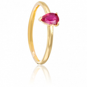 Bague Papaver Rubis & Or Jaune 18K