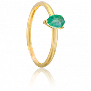 Bague Silene Emeraude & Or Jaune 18K