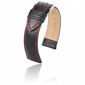 Bracelet Jumper Noir / Rouge / Silver - Entrecorne 20 mm