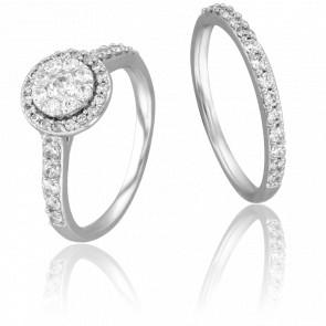 Duo alliance & solitaire Romia diamants GSI