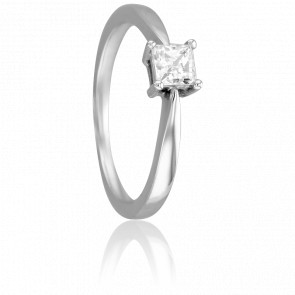 Bague Solitaire Emilien, Diamant 0,50 ct & Or Blanc 18K