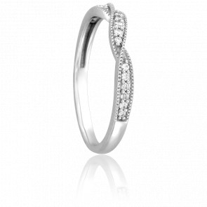 Alliance Audrey, Diamant & Or Blanc 9K