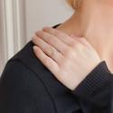 Bague Solitaire Hélia, Diamant 0,10 ct & Or Blanc 9K