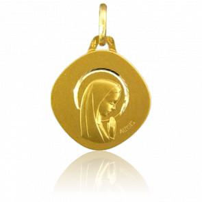 Médaille Vierge Qui Prie Or Jaune 18K