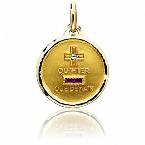 Médaille de l'Amour Ronde Or Jaune 18K