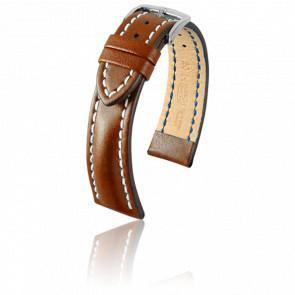 Bracelet Heavy Calf Marron Doré - Entrecorne 20 mm