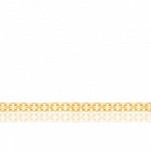 Chaîne Forçat Double, Or jaune 18K, longueur 45 cm