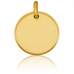 Médaille Ronde Or Jaune Poli 18 mm