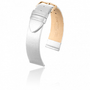 Bracelet Diamond Calf Blanc / Gold - Entrecorne 14 mm