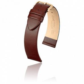 Bracelet Diamond Calf Marron / Gold - Entrecorne 14 mm