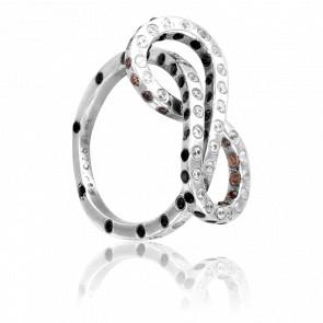 Bague Moebius Diamants & Or Blanc 18K