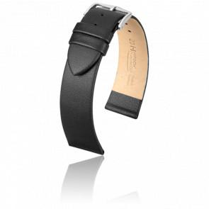 Bracelet Diamond Calf Noir / Silver - Entrecorne 20 mm