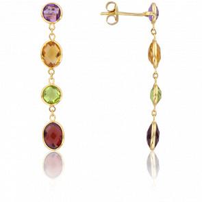 Boucles d'Oreilles Multicolores - H.Gringoire
