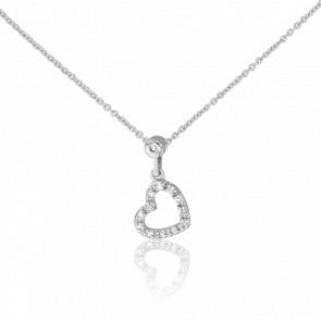 Collier Coeur Diamanté