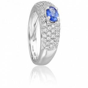 Bague Sungal Saphir & Diamants