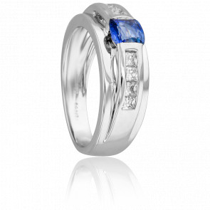 Bague Klang Saphir & Diamants - Fiana
