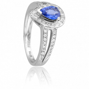 Bague Subang Saphir & Diamants