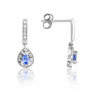 Boucles d'oreilles Kokir Saphir & Diamants