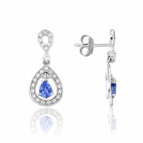 Boucles d'oreilles Kapi Saphir & Diamants