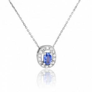 Collier Siem Saphir & Diamants