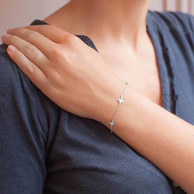 Bracelet croix femme or