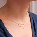 Collier Cercles PM Or Jaune