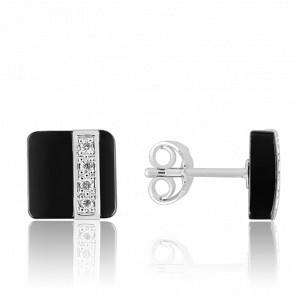 Boucles d'oreilles Carrées & Diamants - Ultimate Ceramic