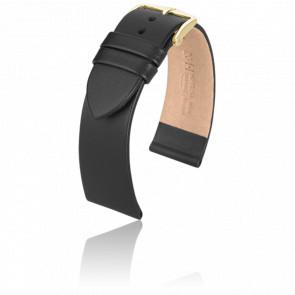 Bracelet Italocalf Noir / Gold - Entrecorne 20 mm