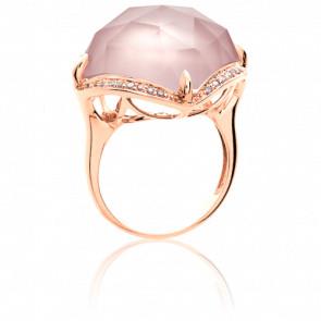 Bague Hespérie Quartz Rose et diamants