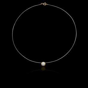 Collier Shine Or Jaune 18K et Diamant 0,10 ct (serti clos)