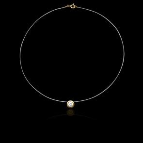 Collier Shine Or Jaune 18K et Diamant 0,15 ct (serti clos)