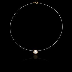 Collier Shine Or Jaune 18K et Diamant 0,25 ct (serti clos)