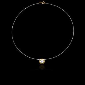 Collier Shine Or Jaune 18K et Diamant 0,30 ct (serti clos)