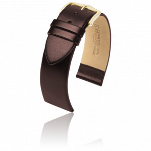 Bracelet Wild Calf Marron / Gold - Entrecorne 20 mm