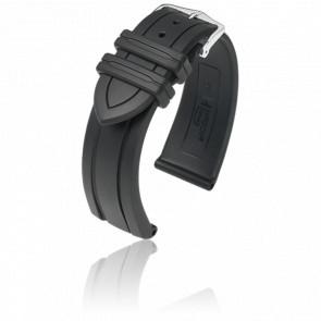 Bracelet Hevea Noir / Silver - Entrecorne 22 mm