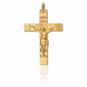 Croix Christ Solaire 30 x 42 mm Or Jaune 18K