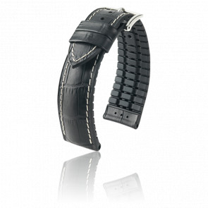 Bracelet George Noir / Silver - Entrecorne 22 mm