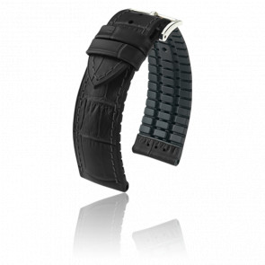 Bracelet Paul Noir / Silver - Entrecorne 20 mm