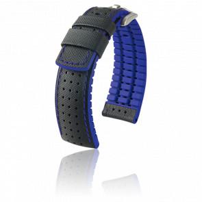 Bracelet Robby Noir - Bleu / Silver - Entrecorne 20 mm