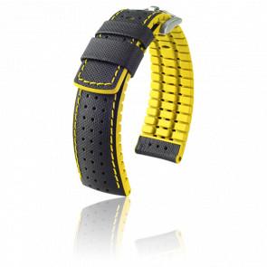 Bracelet caoutchouc jaune