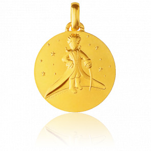 Médaille Petit Prince Dans les Etoiles Or Jaune 18K